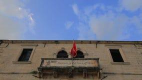 Museumbyggnad i Perast, Kotor fjärd, Montenegro stock video