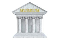 Museumbyggnad med kolonner Royaltyfria Foton