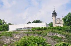 Museumder som är moderne i Salzburg arkivfoto
