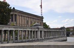 Museumeiland, Alte Nationale Galerie van Berlijn in Duitsland Royalty-vrije Stock Afbeeldingen