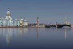 Museumkabinet van Curiosities-rivier Neva Russia St Petersburg Royalty-vrije Stock Foto