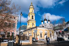 Museumkyrkan av St Nicholas Wonderworkeren i Tolmachi moscow Ryssland Royaltyfri Fotografi