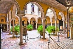 MuseumLebrija slott (Palacio de Lebrija), Sevilla, Spanien. arkivbilder
