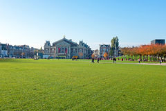 Museumplein in Amsterdam Netherlands Royalty Free Stock Photos