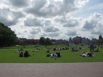 Museumplein von Amsterdam stockfotografie
