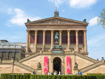 Museums island in Berlin. BERLIN, GERMANY - APRIL 24, 2010: The Museumsinsel is a complex of five museums, Altes museum (Old museum), Neues museum (New museum) Stock Images