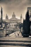 Museums-Palau Nacional d'Art de Catalunya stockfoto