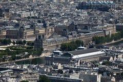 Museums of Paris, aerial view Stock Photos