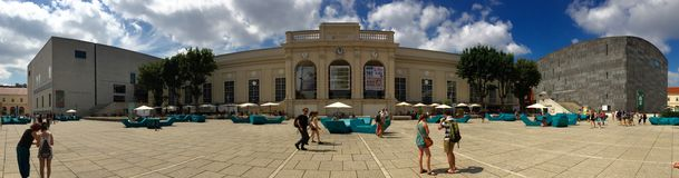 Museums quarter Vienna Stock Photo