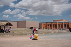 Museums of Tiwanaku archaeological site, Bolivia Royalty Free Stock Photo