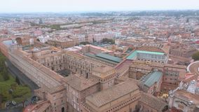 The museums of the Vatican in Rome - aerial view. Videoclip stock video footage