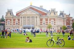 Museums-Viertel, Museumplein in Amsterdam lizenzfreie stockfotos