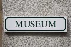 Museums-Zeichen Lizenzfreies Stockfoto