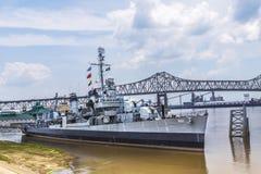 Museumskepp USS Kidd (DD-661) i Baton Rouge arkivbilder
