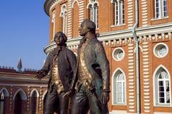 MuseumsNaturreservat Tsaritsyno, Vasily Bazhenov-Architekt Matvei Kazakov Lizenzfreie Stockfotos