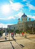Museumsplatz艺术馆历史的维也纳 免版税图库摄影