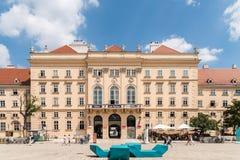 Museumsquartier在维也纳 免版税库存照片