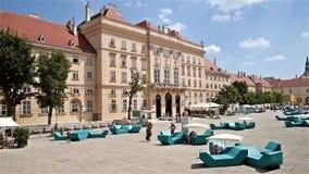 Museumsquartier i Wien stock video