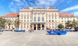 MuseumsQuartier, Museumsplatz, Vienna Royalty Free Stock Photography