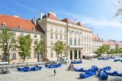 Museumsquartier Viena, Áustria Fotos de Stock