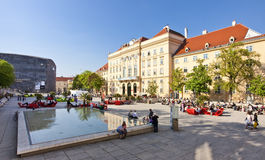 Museumsquartieren (MQ) av staden av Wien, Österrike Arkivbilder
