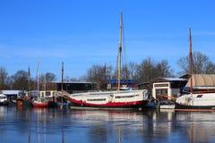 Museumswerft (Historyczny dockyard), spisujący jako zabytek w Greifswald, Niemcy Fotografia Stock