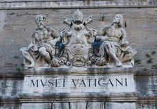 museumtecken vatican Royaltyfri Foto