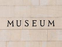 Museumteken Royalty-vrije Stock Afbeelding