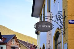 Museumteken in Beieren stock foto's
