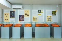 Museumtentoongesteld voorwerp Complex museum en toerist Stock Foto's