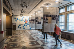 Museumtentoonstelling KGB die Riga bouwen Royalty-vrije Stock Fotografie