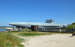 Museumubåt U 955 i Laboe/Tyskland Royaltyfria Foton