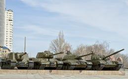 Museumutställningar av panoraman av striden av Stalingrad Royaltyfria Bilder