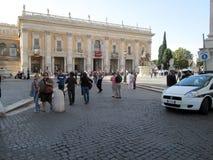Museus de Capitoline, Plaza del Campidoglio Roma Europa foto de stock royalty free