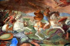 Museus de Capitoline - Salão dos capitães Imagens de Stock