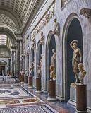 Museus do Vaticano - Pius Clementine Rooms foto de stock