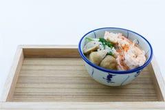 Mush dodaje garnele, pieczarki, pieprz, karmowy Tajlandia, Tajlandia Res Obraz Royalty Free