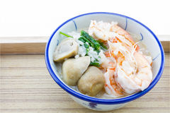 Mush dodaje garnele, pieczarki, pieprz, karmowy Tajlandia, Tajlandia Res Obrazy Stock