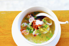 Mush seafood Boiled rice seafood delicious breakfast Thailand fo Royalty Free Stock Photography