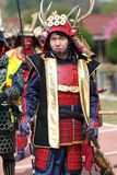 Musha Gyoretsu (Krieger-Parade in der Kanra Stadt) Lizenzfreie Stockfotos