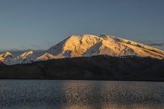 MuShiDaGe Spitze im Sonnenuntergang Stockbilder