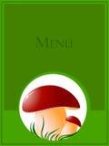 Mushroom. Big mushroom on green grass. vector illustration Stock Image