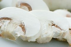 Mushroom. Sliced mushroom Royalty Free Stock Images