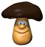 Mushroom. Funny mushroom - 3d cartoon illustration Royalty Free Stock Photography