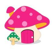 Mushroom. Purple mushroon and green mushroom on the white background,toys Stock Photos