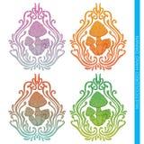 Mushroom Abstract Multicolored Royalty Free Stock Photos