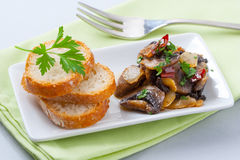 Mushroom appetizer Royalty Free Stock Photo