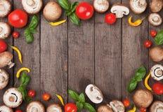 Mushroom background frame Stock Photo