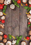 Mushroom background frame Stock Images