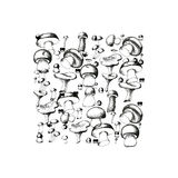 Mushroom background Royalty Free Stock Image